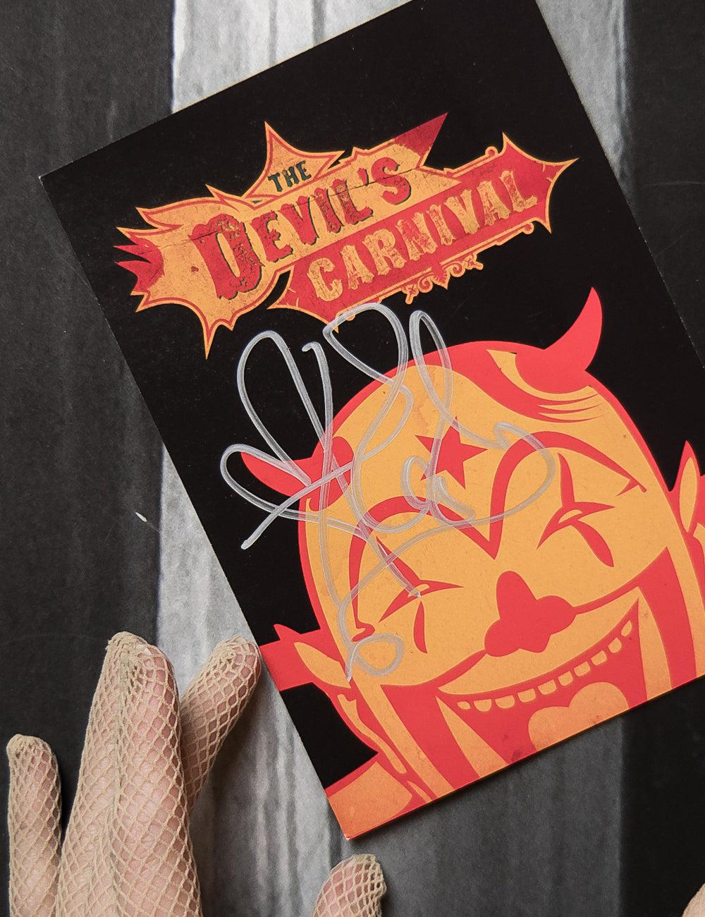 Autographed Limited Edition The Devil's Carnival Movie Painted Doll Collectable Card with Custom Dedication