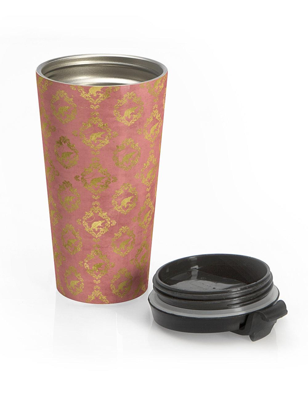 Gilded Rats Travel Tea Tumbler in 'Sudden Blush' - The Asylum Emporium