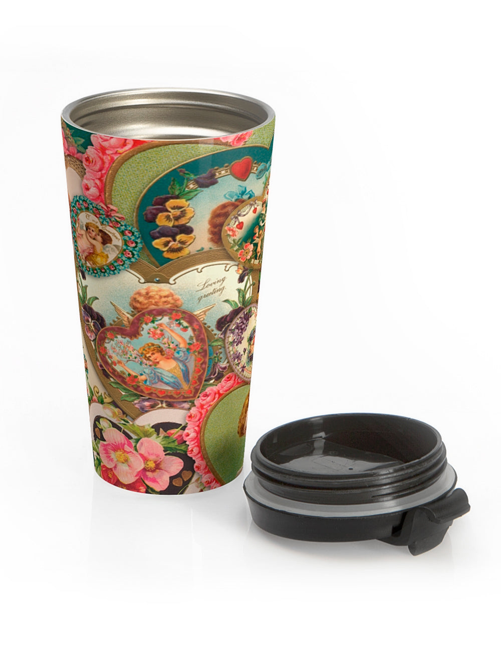 Victorian Valentines Travel Tea Tumbler - The Asylum Emporium