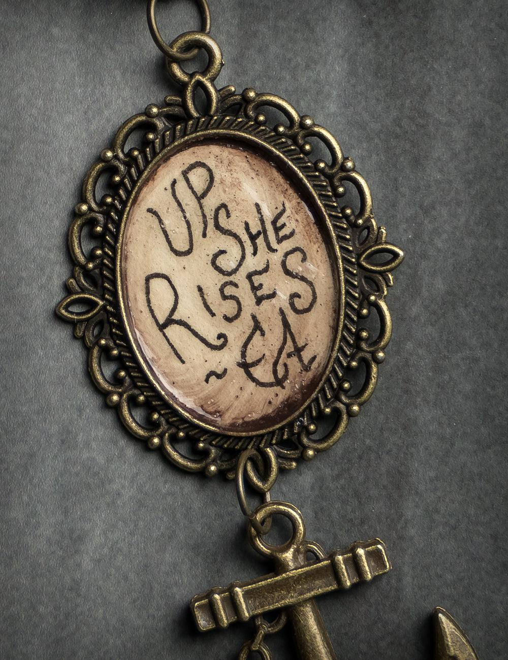 """Up She Rises"" Handmade Necklace, Limited Edition of 20"