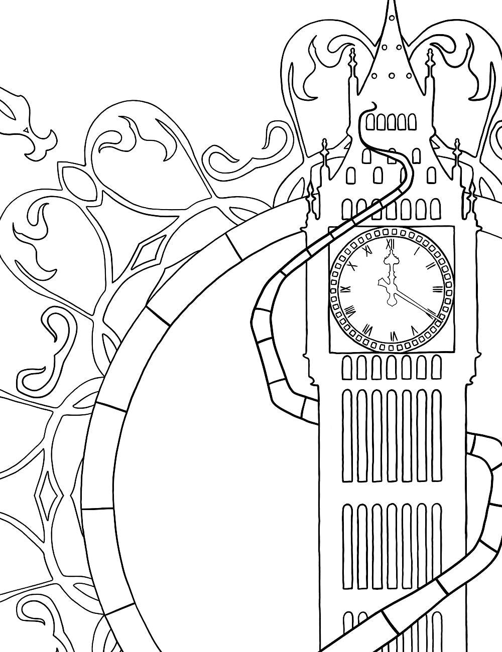 Asylum Coloring Book Page: Big Ben