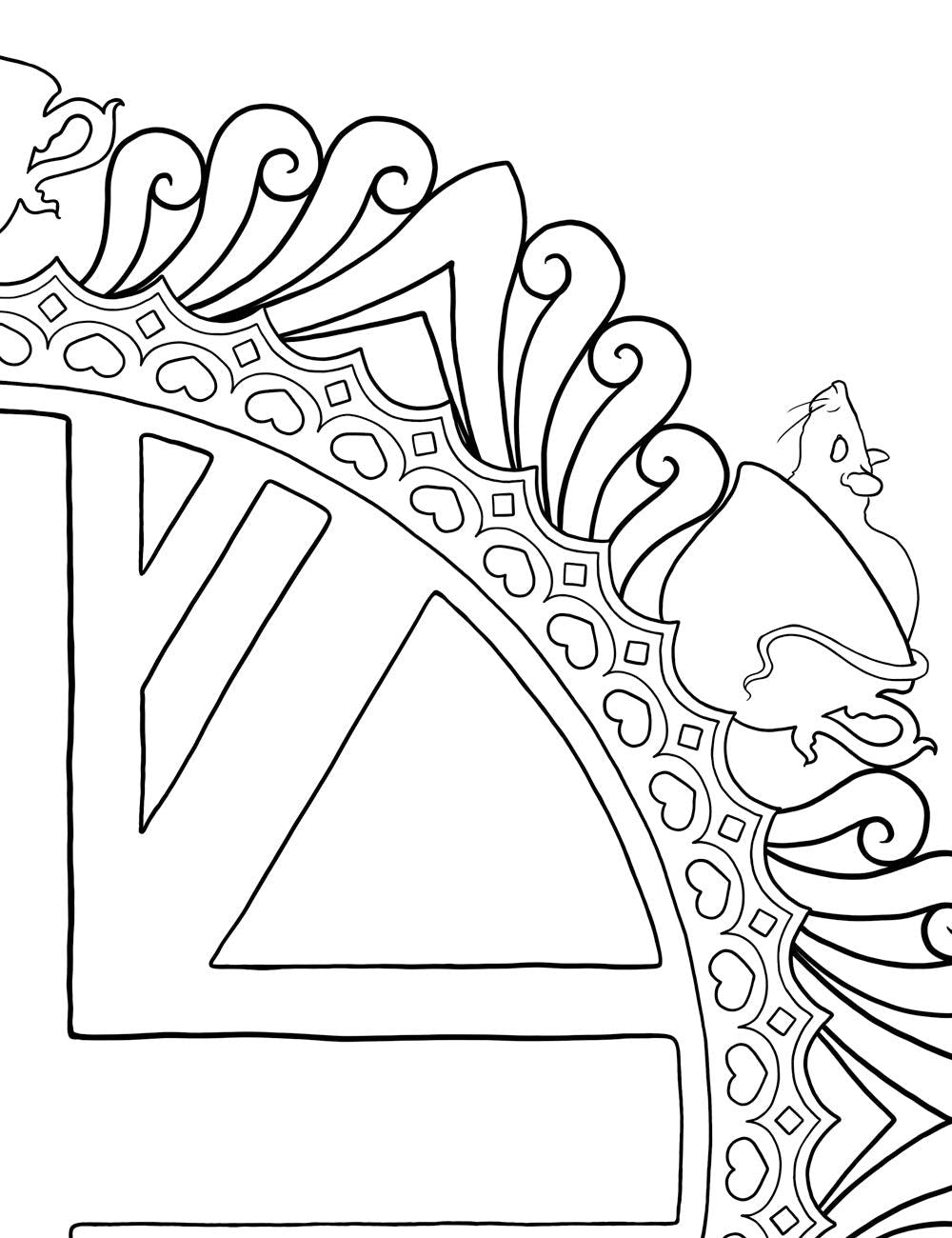 Asylum Coloring Book Page: British Flag
