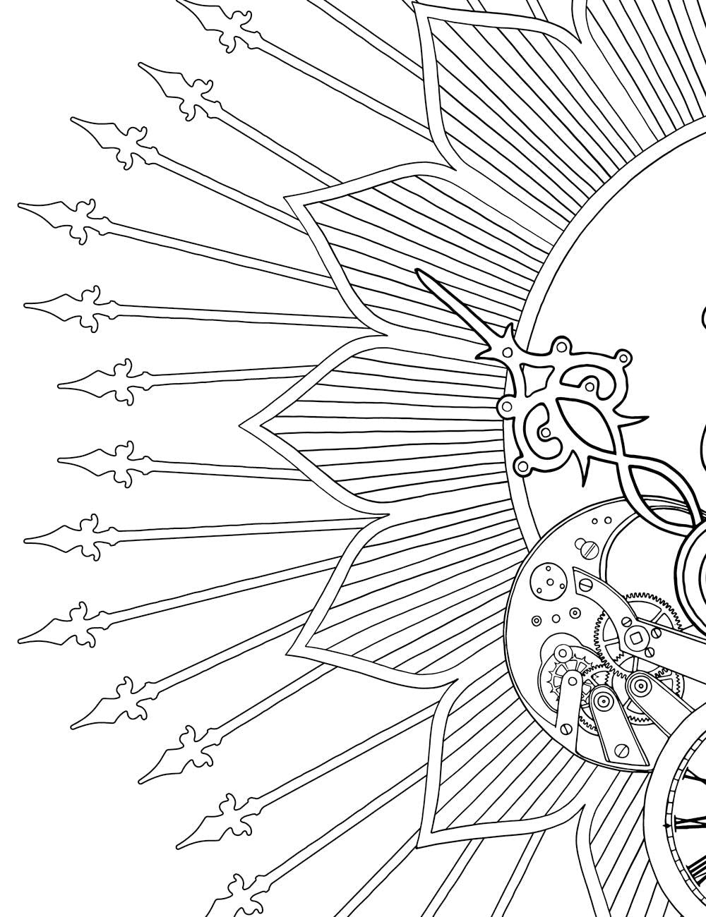 Asylum Coloring Book Page: Gate Spikes