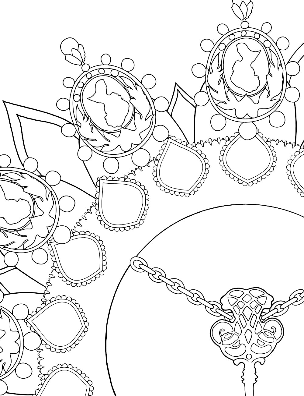 Asylum Coloring Book Page: Mournington's Key