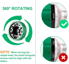 Load image into Gallery viewer, GREEN MOUNT Water Hose Spray Nozzle with Thumb Control (Green)