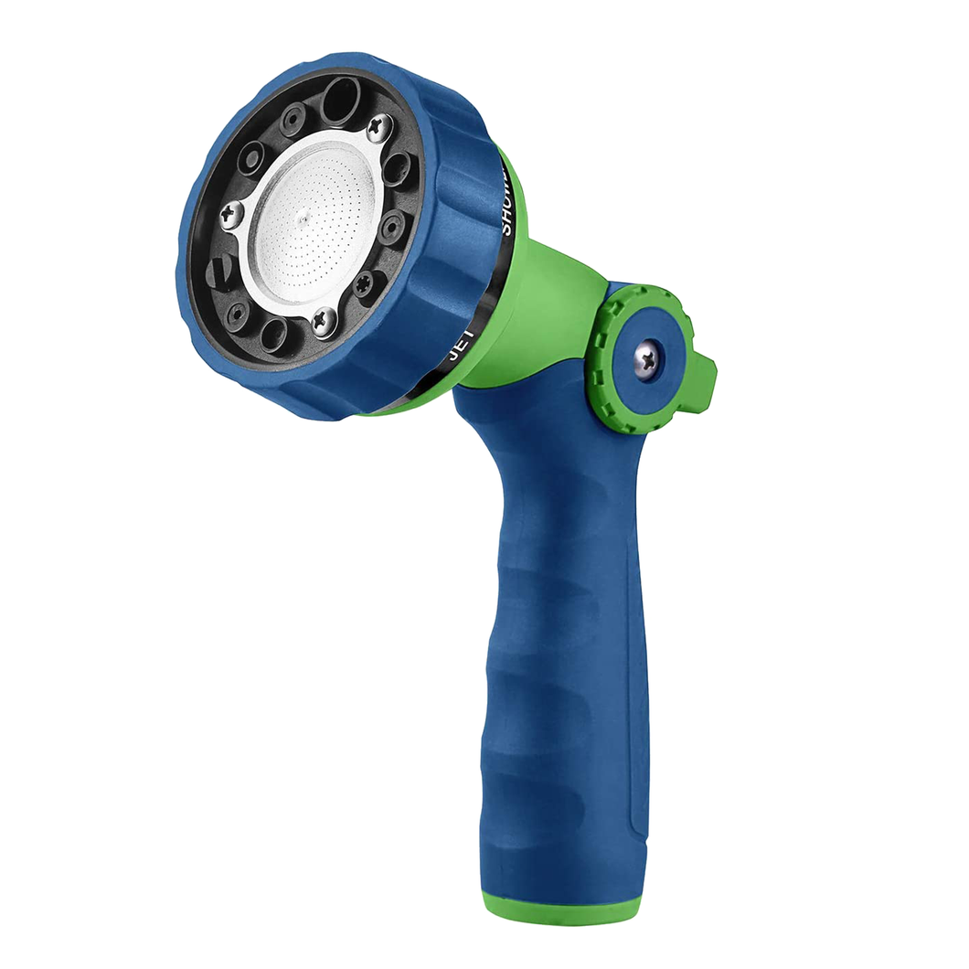 GREEN MOUNT Water Hose Spray Nozzle with Thumb Control (Blue)