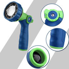 Load image into Gallery viewer, GREEN MOUNT Water Hose Spray Nozzle with Thumb Control (Blue)