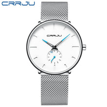Load image into Gallery viewer, Ultra Thin Creative Black Stainless steel Quartz Watches Men Simple Fashion Business