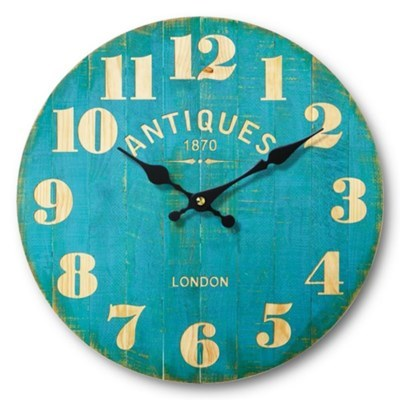 Antique Teal Clock, Medium