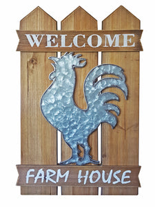 Welcome Rooster Wall Decor