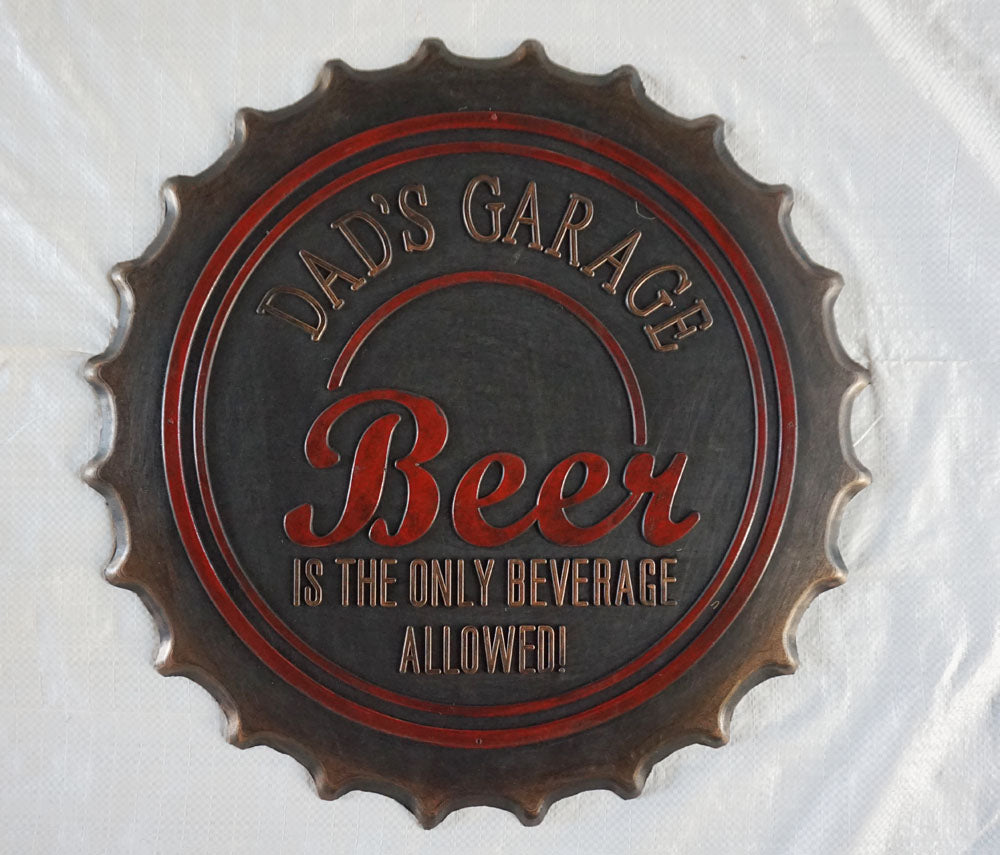 DADs GARAGE, Beer Cap Mat - iDekor8