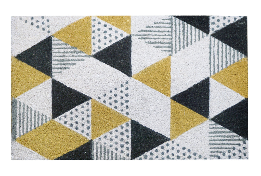 Geometric Printed Mat, 17.7x29.5 inches, 1.5 cm thick - My Country Home and Garden