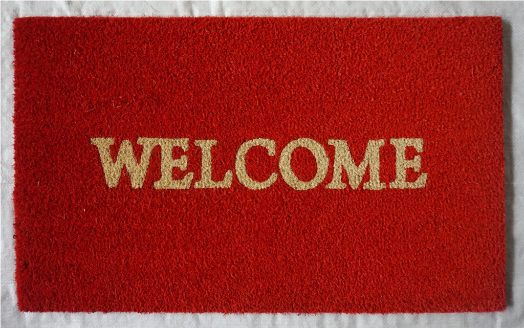 WELCOME Mat, Rust Red, 17.7x29.5 inches, 1.5 cm thick - My Country Home and Garden
