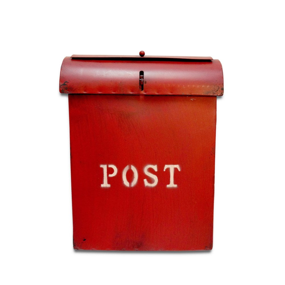 Emily POST Mailbox Rustic Red - My Country Home and Garden