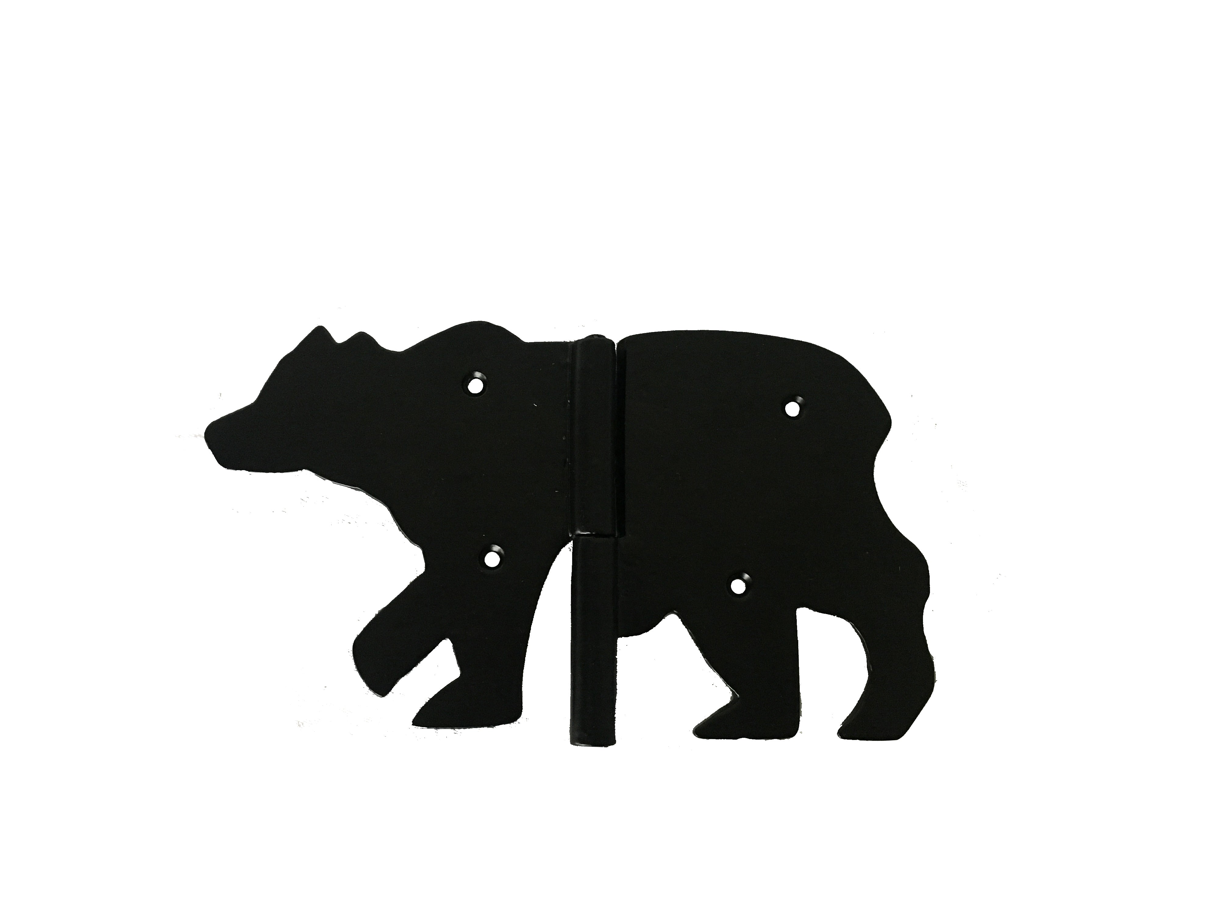 Bear Hinge, Powder Coated Black, 10.5 inches - My Country Home and Garden