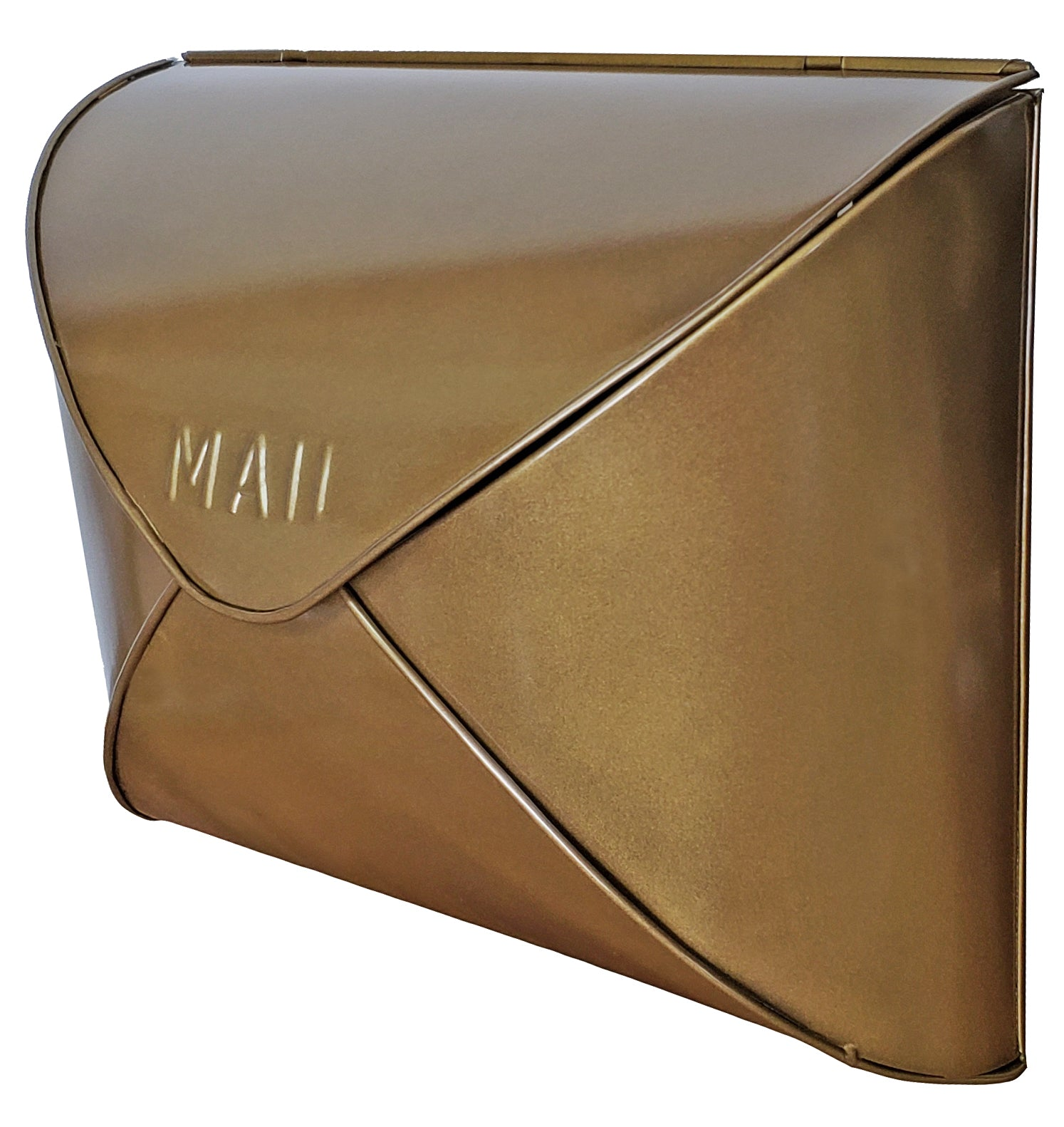 Antique Brass Envelope Mailbox 12 5x5x10 Inches My Country Home And Garden