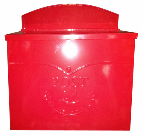 Chelsea Post Mailbox, Red - iDekor8