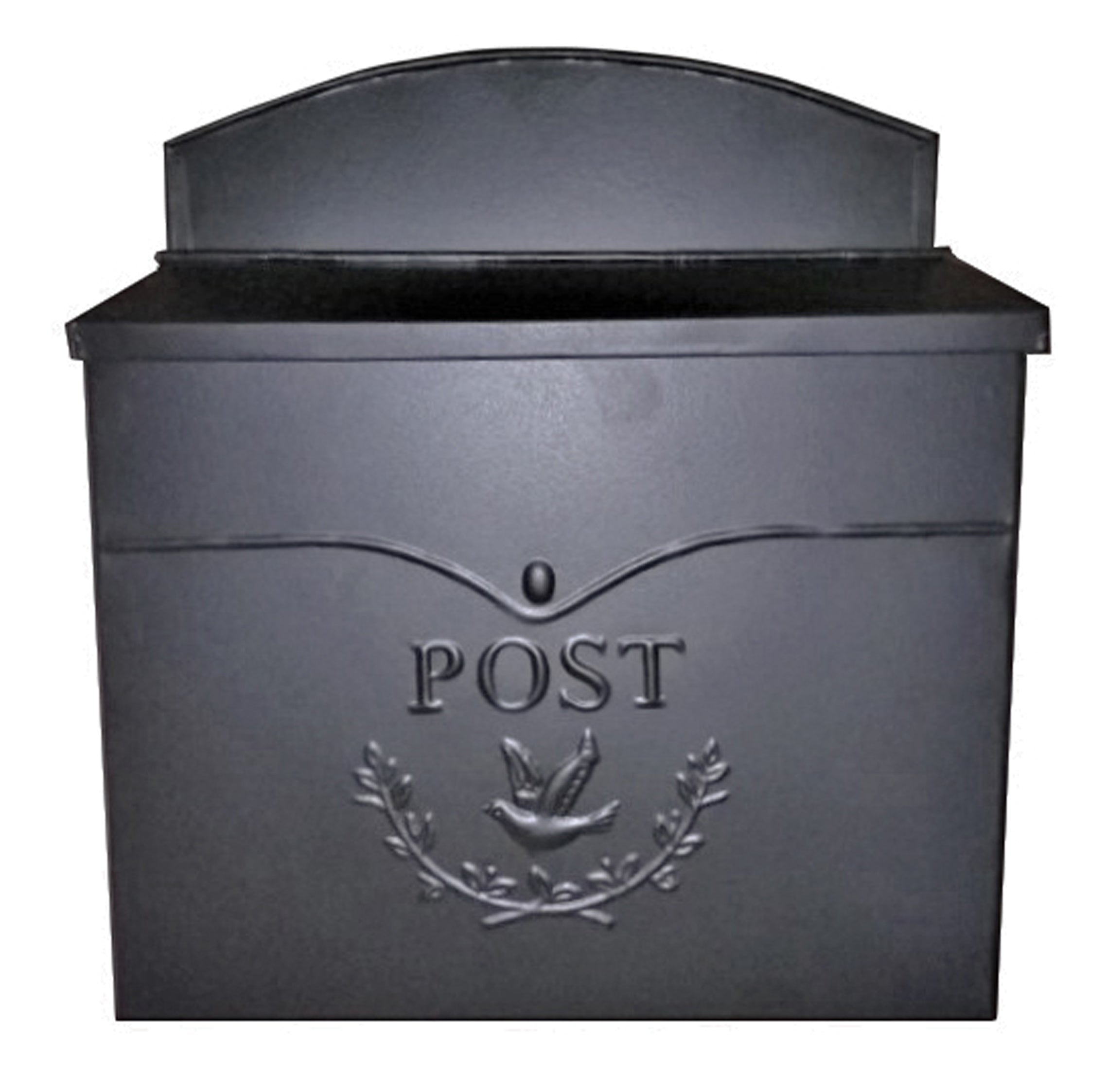 Chelsea Post Mailbox, Black - 11.5x4.8x13 in - My Country Home and Garden