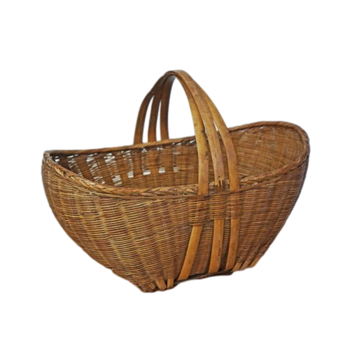 Antique Oval Bamboo Basket