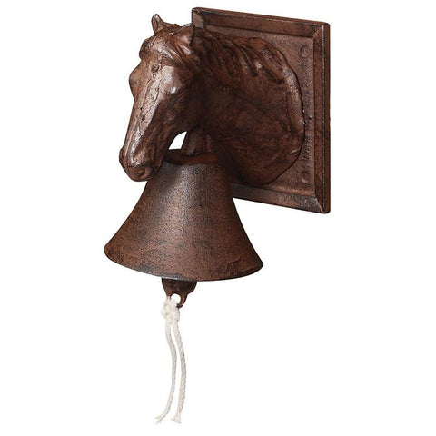 Doorbell horse head. Cast iron - My Country Home and Garden