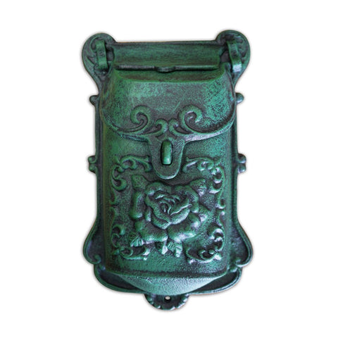 Nazlie Mailbox Green Cast Iron