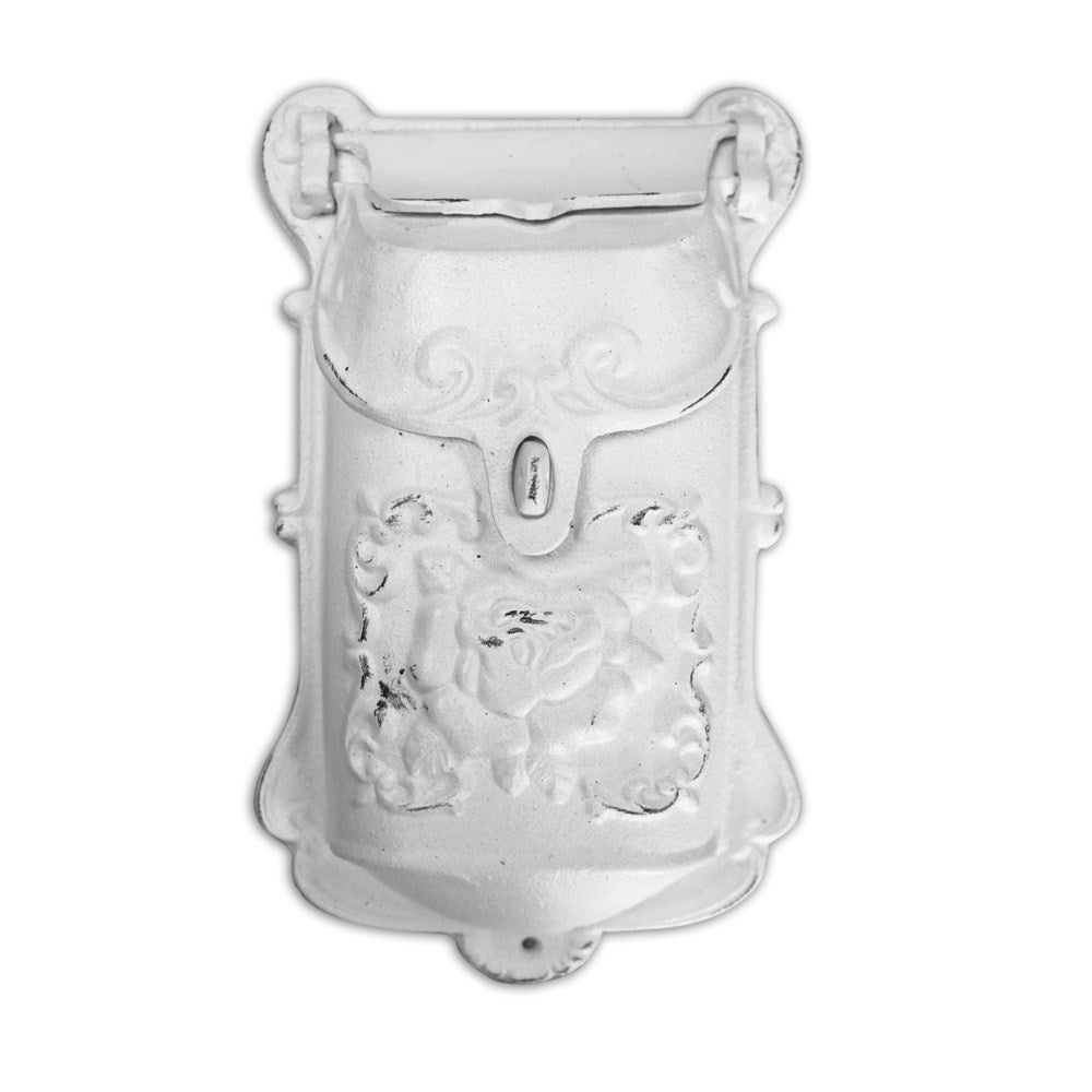 Nazlie Mailbox White Cast Iron