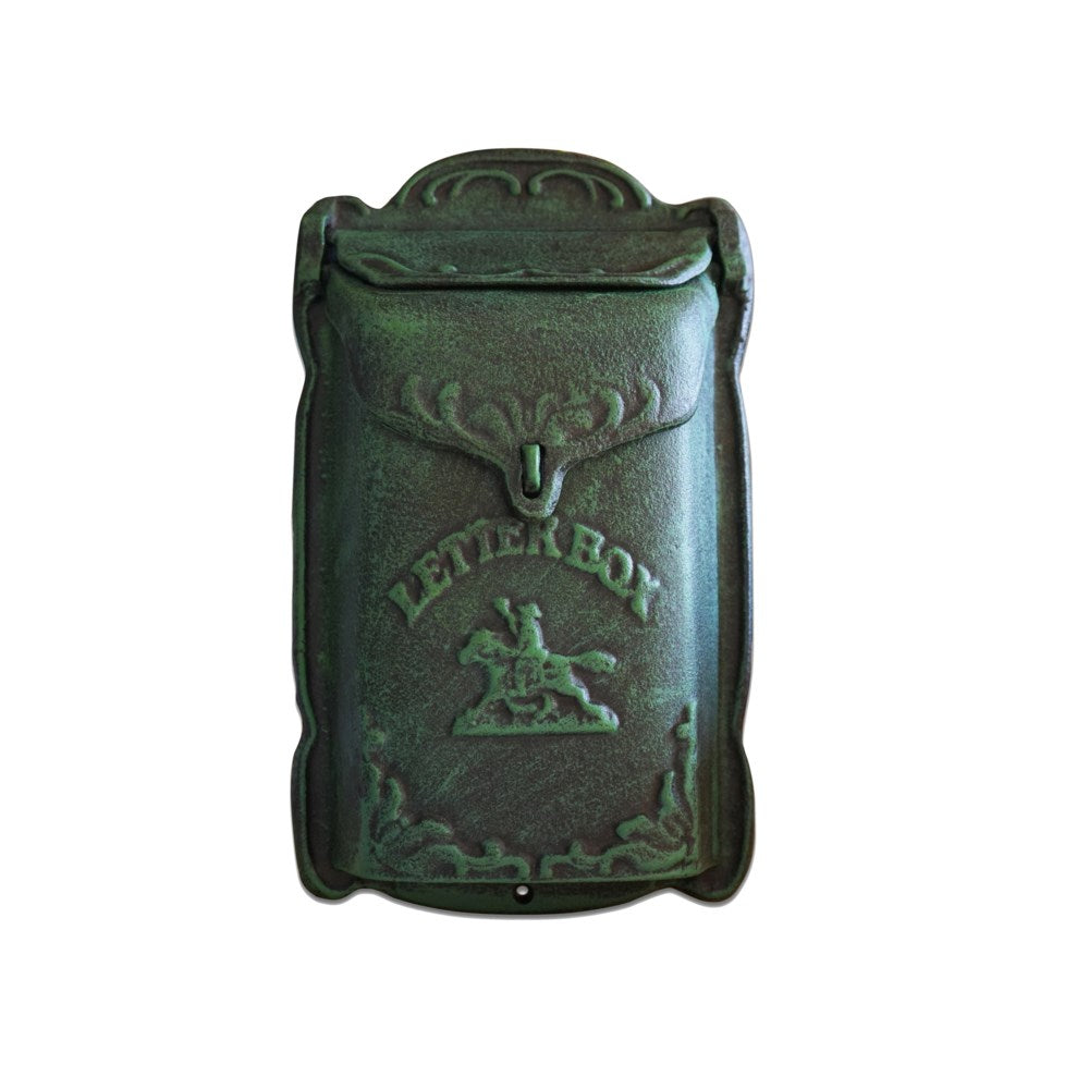 Cara Mailbox Green Cast Iron