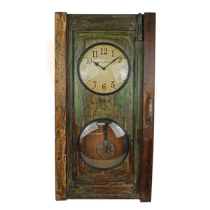 Recycled Old Dood Panel Clock