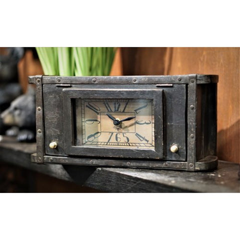 Recycled Brick Mould Clock, Black