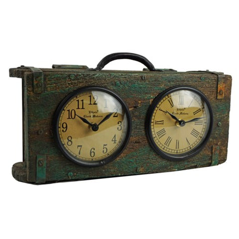 Recycled Brick Mould Dual Clock