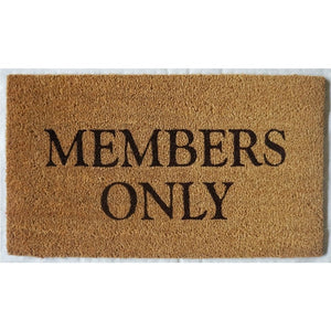 """Members Only"" Doormat Natural"
