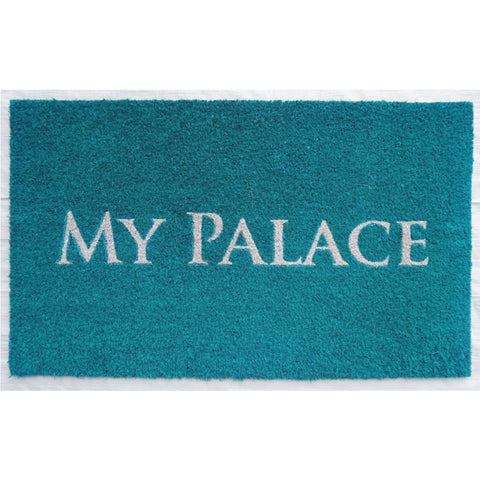 """My Palace"" Doormat Turquoise"
