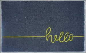 """Hello"" Doormat, Fluorescent"