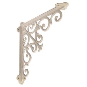 Victorian Shelf Bracket, Medium, White - iDekor8