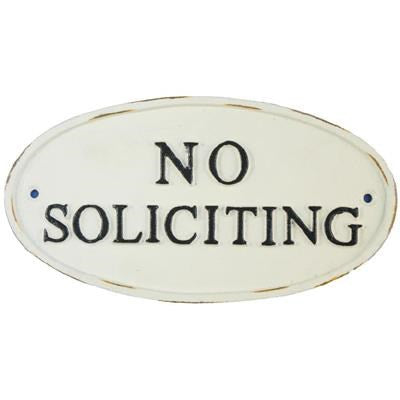"""No Soliciting"" Sign"