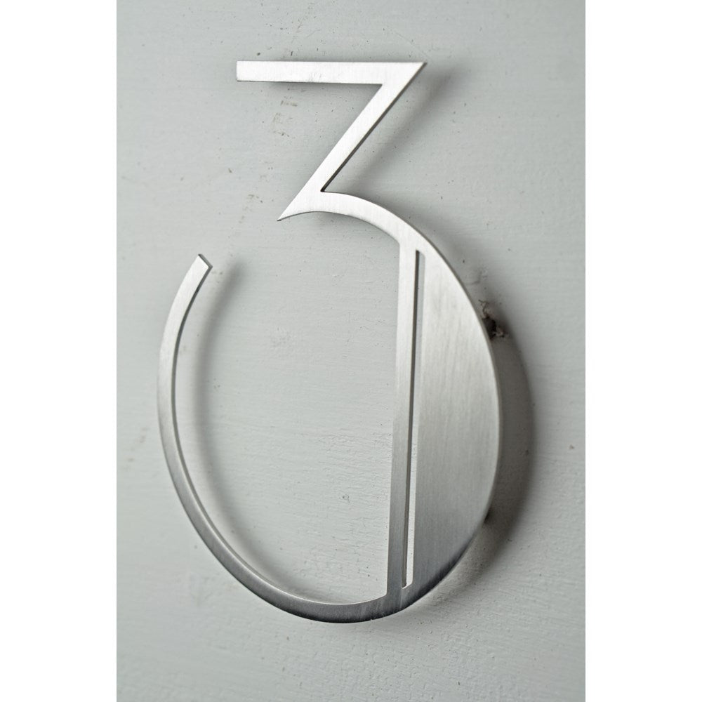 Stainless Steel Deco Number-3 - My Country Home and Garden