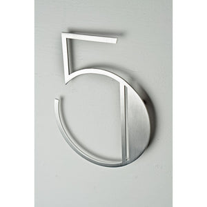 Stainless Steel Deco Number-5 - My Country Home and Garden