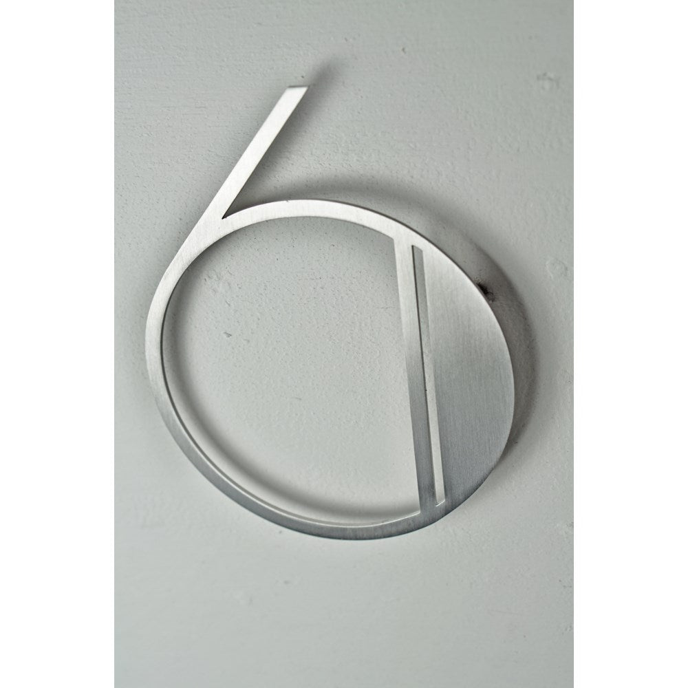 Stainless Steel Deco Number-6 - My Country Home and Garden