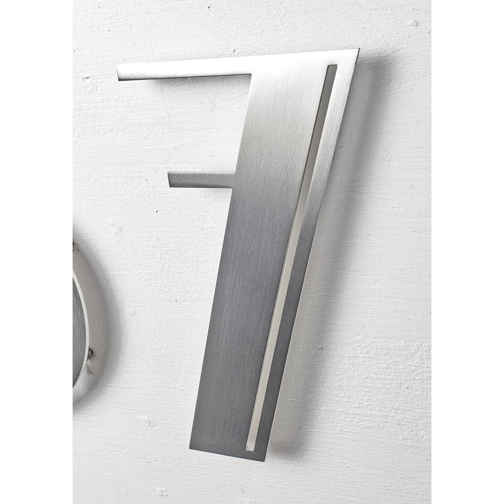 Stainless Steel Deco Number-7 - My Country Home and Garden
