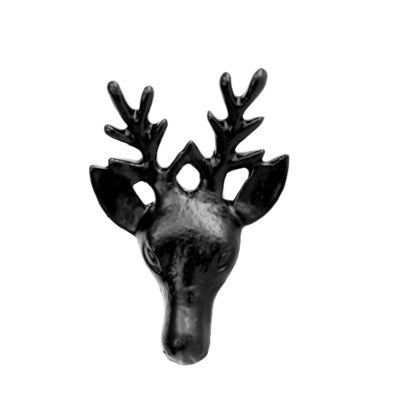 Deer Knob Cast Iron Antique Black - My Country Home and Garden