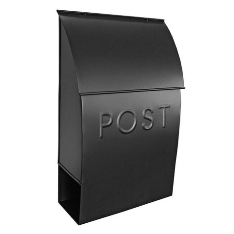 Milano Pointed Mailbox Black
