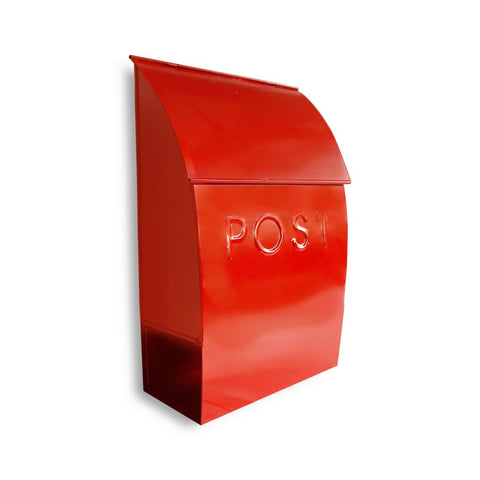Milano Pointed Mailbox Red