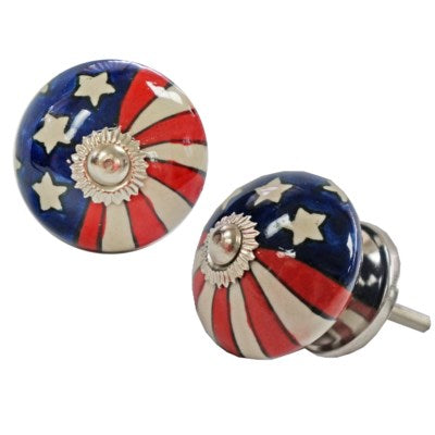 Americana Knob, Ceramic, Set of 12 - My Country Home and Garden