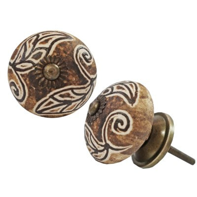 Floral Marbled Knob - My Country Home and Garden