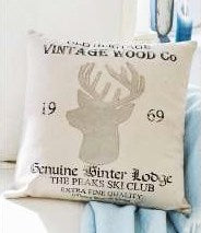 Wood Co. Deer Cushion