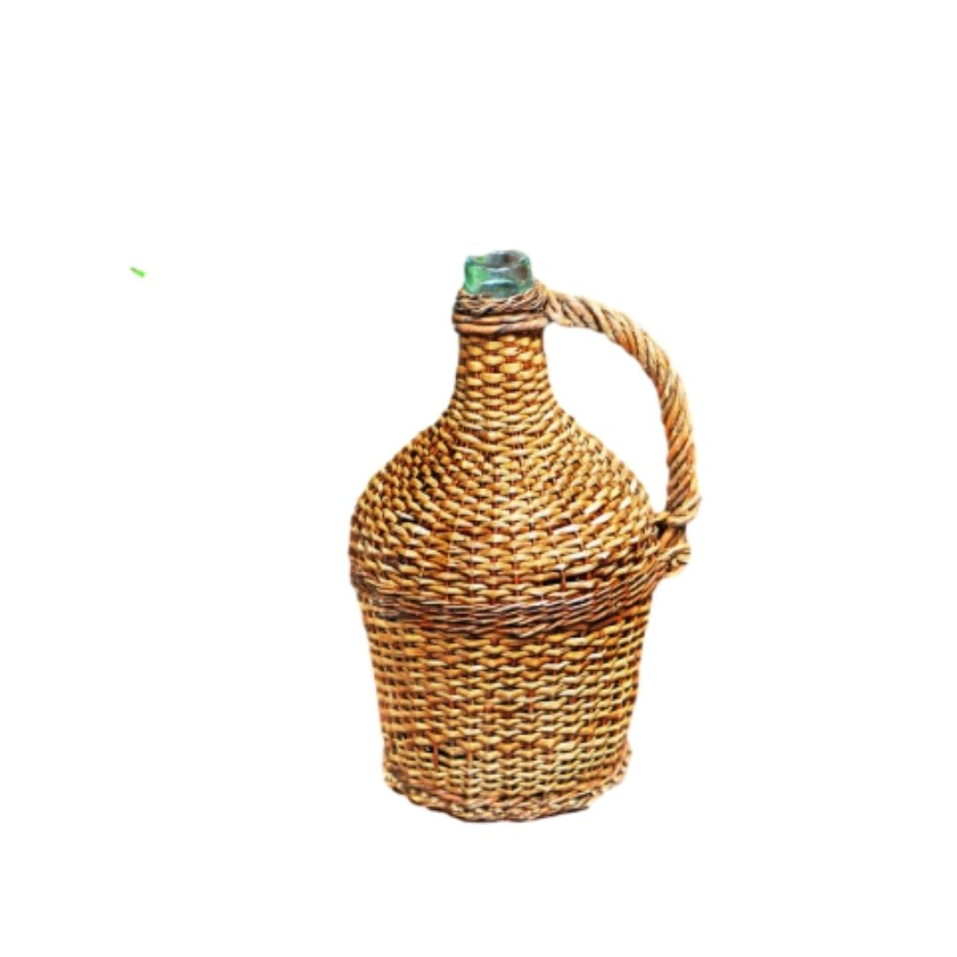 Antique Wicker Bottle