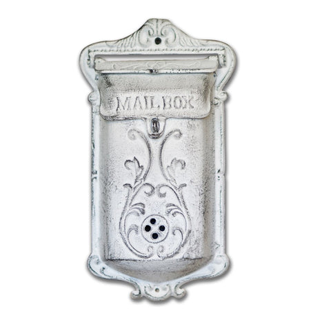 Mailbox Antique White, Long