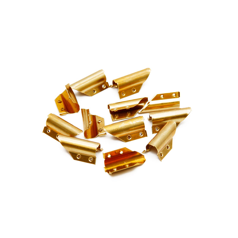 Ettore Brass  End Clips For Channels 12 Pack