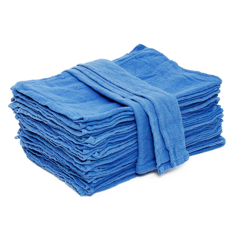 Recycled Surgical Huck Towel Dk Blue 22in X 12in