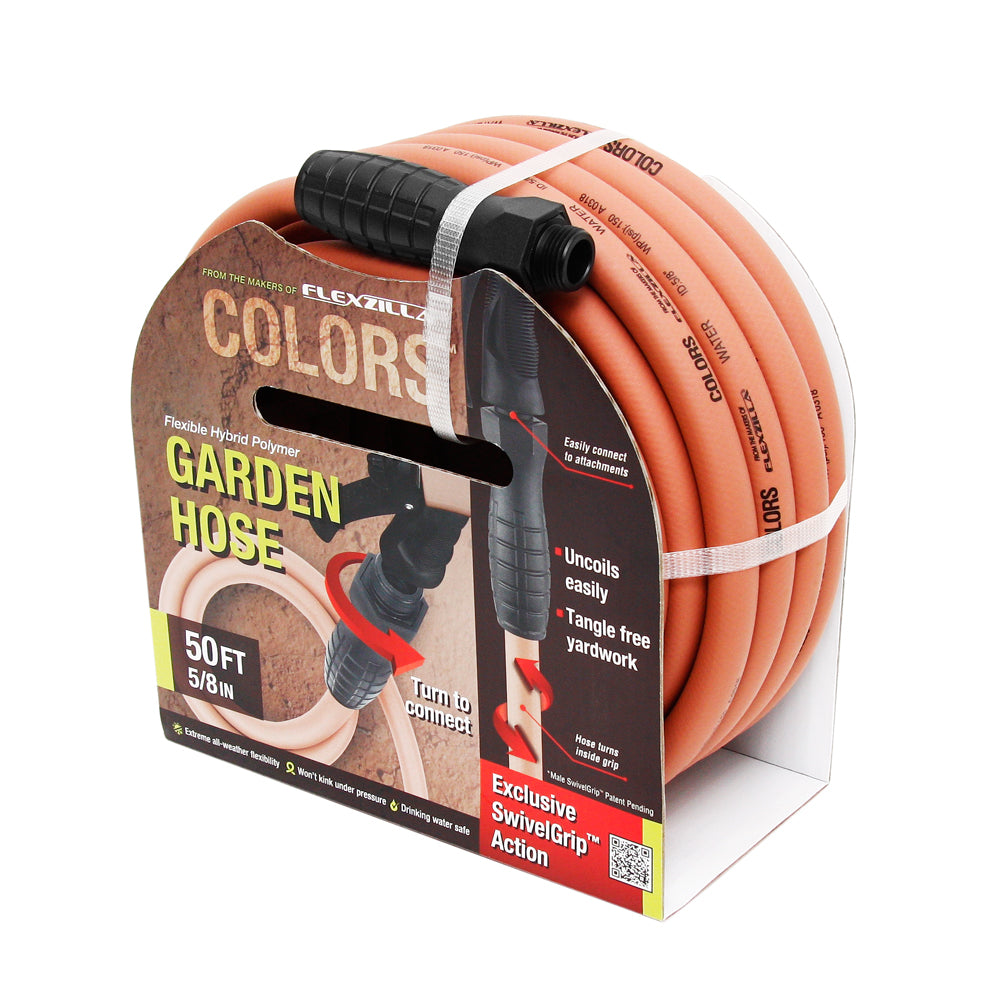 Flexzilla 5/8in 50ft Colors™ SwivelGrip™ Garden Hose